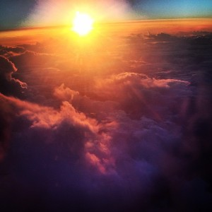 Sunset from my plane window